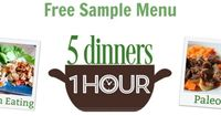 5 Dinners in 1 Hour planning system saves time, money and helps you eat better.