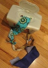 Good idea to keep them occupied. My daughter loves pulling wipes and tissues out of their boxes