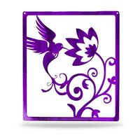 Handcrafted in USA! Support American Craftsmen. Humming Bird Metal Wall Decor $46.99