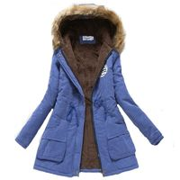 2018 women winter thicken warm coat female autumn hooded cotton fur plus size basic jacket outerwear slim long ladies chaqueta $73.44
