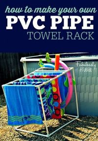 How to build your own PVC Towel Rack... just in time for summer! Perfect for pools and hot tubs and so easy and cheap to make!
