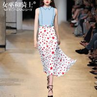 Vogue Attractive Printed Slimming Sleeveless High Waisted Chiffon Summer Dress - Bonny YZOZO Boutique Store