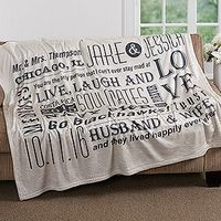 Show your special someone just how much you care with the Our Life Together Personalized 50x60 Fleece Blanket. Find the best personalized romantic gifts at PersonalizationMall.com
