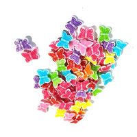 CLEARANCE Pack of 140 Assorted Colours Acrylic Butterfly Beads. Animal Nature Charms. 11mm x 14mm £8.19