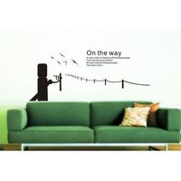 """Description: Size : 59""""x 25"""" Category : Wall Quotes Sticker Material : Vinly Wall Sticker Room :bedroom, living room Color:White Includes:Bridge, Words"""