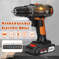 36V 30Nm Rechargable Drill Lithium Power Drills 2 Speed Multi-function Electric Screwdriver