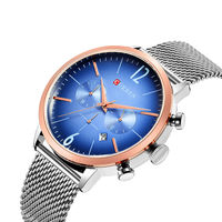 CURREN 8313 Men Clock Stainless Steel Casual Date Waterproof Quartz Watch