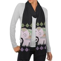 Fancy Elephant Art Scarf
