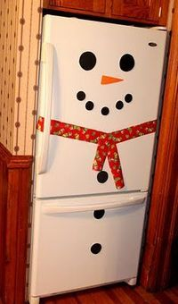 A very large snowman for your kitchen! This is so easy to do! I made ours an interactive snowman. I cut out the following pieces from craft foam sheets (affilia