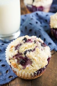 These simple and old fashioned Blueberry Buttermilk Donut Muffins are lightly sweet and bursting with fresh blueberries and a touch of nutmeg!