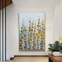 Abstract floral paintings Gold and Silver Acrylic Paintings on canvas Original Art wall Pictures palette knife home decor cuadros abstractos $109.00