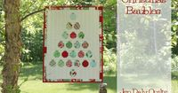 Christmas Baubles Quilt photo tutorial from moda bake shop blog
