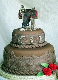 Country Western Wedding Cakes - Click image to find more Weddings Pinterest pins