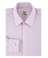 Lavender Pencil Stripes French Cuff Cotton Shirt �'�1799.00