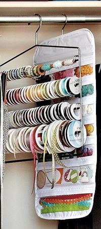 Is your craft room a mess? Take one giant step in your organization and take a look at all these fun ways to tidy up your ribbon!