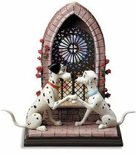 WDCC Disney Classics - 101 Dalmatian Pongo and Perdita Going To The Chapel - View WDCC Disney Classics Art Gallery.