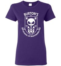 Burton's School Of Nightmares Ladies T-Shirt $15.00 https://www.nurdtyme.com
