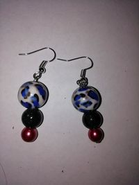 Beaded earrings £5.00