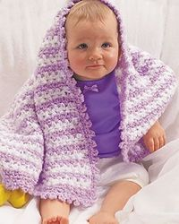 Cuddle up with your little one with this adorable Striped Lavender Baby Blanket. This baby blanket crochet pattern is easy enough for beginners, and makes a gre