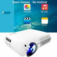 Crenova XPE660 LCD Projector 6500 Lumens 1920*1080 1080P 4K LED Video Projector Home Theater Cinema Basic Version