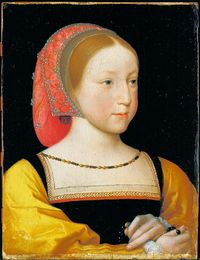 Jean Clouet, Portrait of Princess Charlotte of France, c.1522, daughter of King Francis I, painted about a year before she died at age 8.