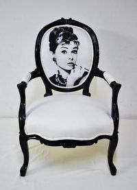 This would be spectacular in Nina's hot pink and black room. You can never go wrong with Hepburn.
