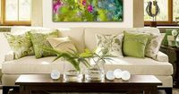 Large abstract art canvas print 30x40 giclee Garden Party