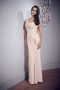Prom Dresses Sheath Cowl Neck Floor Length Chiffon New Arrival