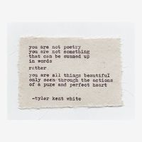 Pure and Perfect Heart | written by Tyler Kent White