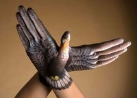 realistic hand painting #animals #bodyart