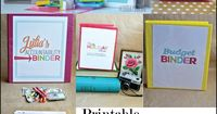 Another fabulous set of printables for an updated family binder- featuring several sheets to put all of your important family information together.