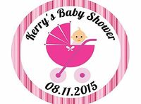 Pretty Little Stickers 50 x 3cm Pink PERSONALISED Baby Girl Pram Baby Shower Stickers Favours/Save The Date/Invites 50 x Pink PERSONALISED Baby Girl Pram Baby Shower Stickers Favours/Save The Date/Invites http://www.comparestoreprices.co.uk/childrens-gift...