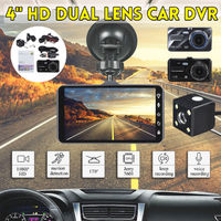 4 Inch 1080P Car DVR Dual Lens Dash Cam Video Night Vision Voice Loop Recording Camera