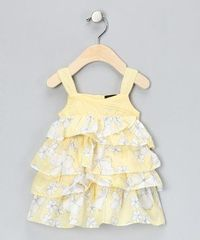Take a look at this Yellow Floral Ruffle Dress - Infant & Toddler by Calvin Klein on #zulily today!