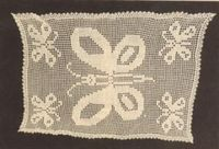 Butterfly Filet Table Scarf FREE crochet pattern with chart (thread)