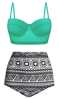 Vintage Look Bikini High Waisted, Underwired $37.25