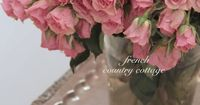 Silver tray across tub~ FRENCH COUNTRY COTTAGE: A Romantic Vignette
