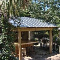 Roof Over Grilling Area | 2,233 metal roof Tropical Home Design Photos
