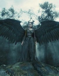 Maleficent: Her wings were my favorite part! They're so pretty! And her eyes! Her eyes are amazing too! :)