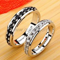 Gullei.com Couples Diamond Wedding Bands with Personalized Names
