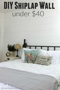 Yes, you can add a shiplap wall to your room in a weekend and for less than $40. See how it's done! Easy to follow step-by-step directions.