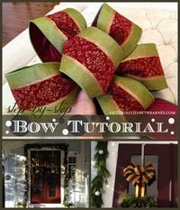 How to Make a Bow. Step-by-step for Christmas Decorating & Wreaths. :: Hometalk