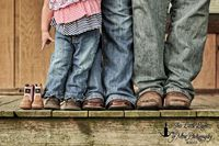 Family Maternity Photography with boots.