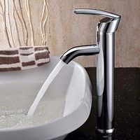 Elegant Brass Bathroom Sink Taps - Chrome Finish