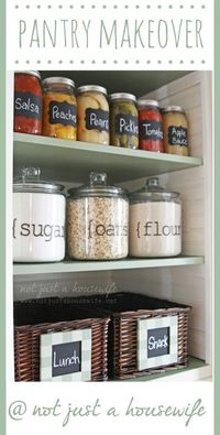 Organized pantry ideas not just a house wife for my for Not just kitchen ideas