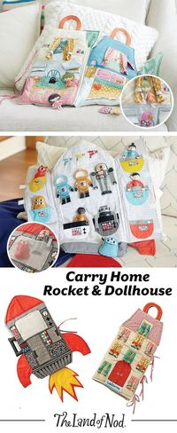 These on-the-go plush dollhouses feature an abundance of endless playtime. Soft, foldable and filled with embroidered details, these dollhouses are made for make-believe play. Girls and boys of all ages will love to take their dolls on tons of imaginary a...