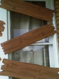 don't forget to board up your windows. Cardboard is a great medium~paint & tack up. Quick, cheap & easy! 2014