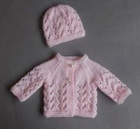 Lace Knit Premature Baby Set - Let your favorite newborn enter the world in style with this Lace Knit Premature Baby Set. If you're new to lace knitting, then these tiny and quick projects are the perfect place to start. Made with the garter stitch, s...