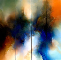 Original abstract painting 'The Enchantment' by award-winning artist Simon Kenny $17380.00