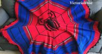 Crochet Spiderman Blanket Pattern Only by VictoriaRoseShop on Etsy, Etsy Store Shout out! I can't leave out Spiderman! <3 these blankets!
